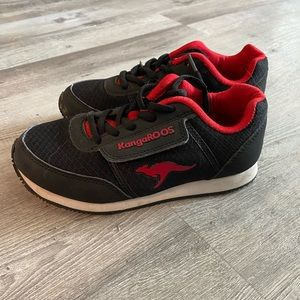 Black and red boys size 13 kangaroos sneakers